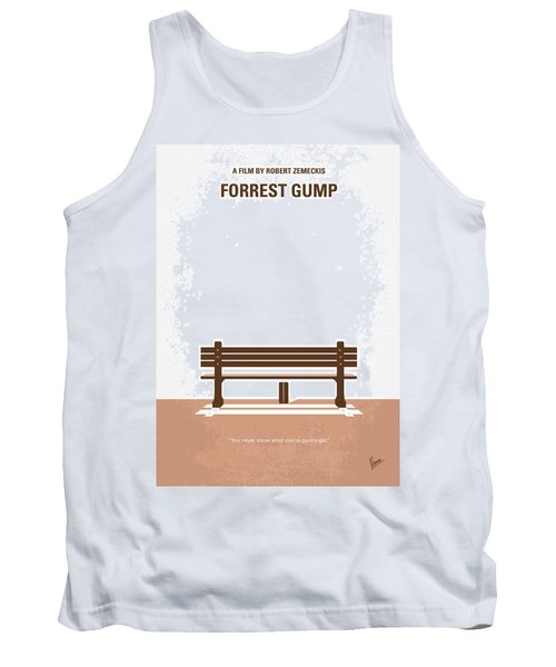 No193 My Forrest Gump Minimal Movie Poster Tank Top