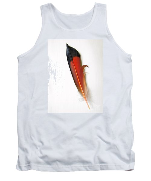 Northern Flicker Tail Feather Tank Top by Sean Griffin