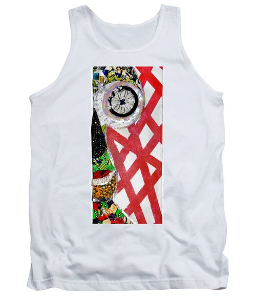 Tank Top featuring the tapestry - textile Obaoya by Apanaki Temitayo M