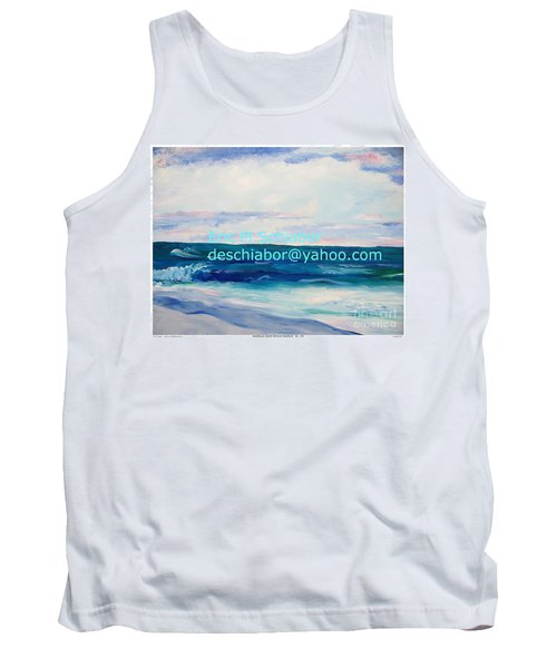 Tank Top featuring the painting Ocean Assateague Virginia by Eric  Schiabor