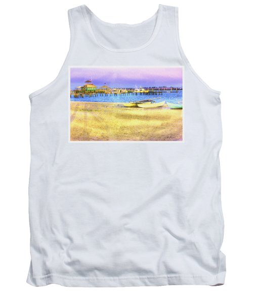 Coastal - Beach - Boats - Ocean Front Property Tank Top