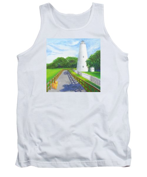 Ocracoke And Friend Tank Top by Anne Marie Brown