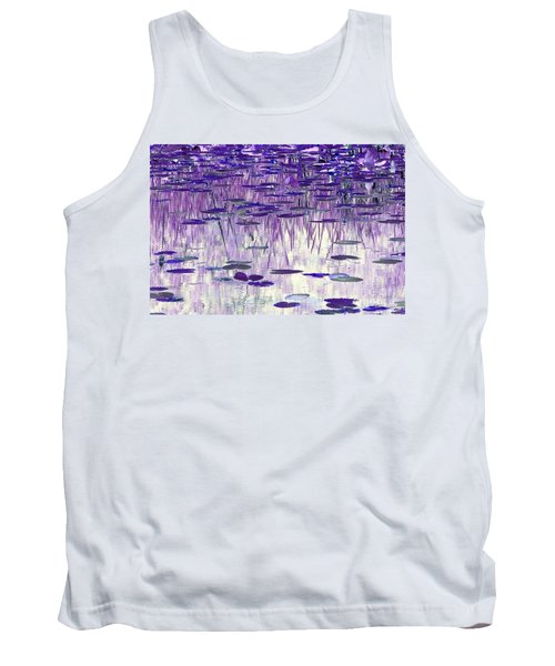 Ode To Monet In Purple Tank Top by Chris Anderson