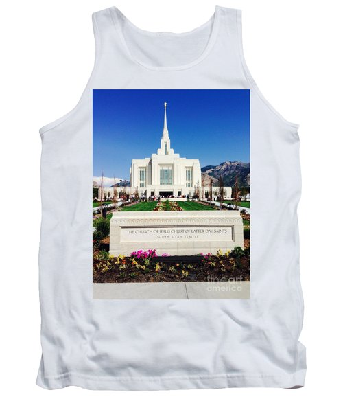 Tank Top featuring the photograph Ogden Temple 1 by Richard W Linford