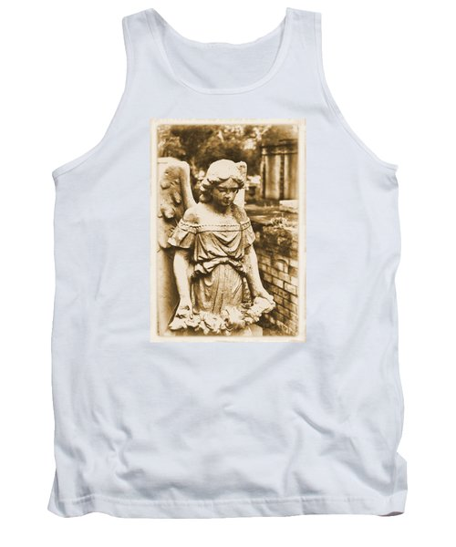 Tank Top featuring the photograph Blessed Angel   by Nadalyn Larsen