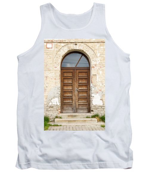 Tank Top featuring the photograph Old Church Door by Les Palenik