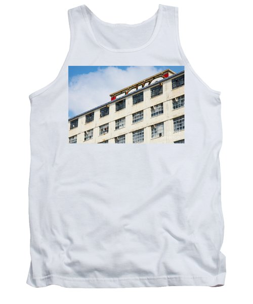 Old Factory Under A Clear Blue Sky Tank Top by Nick  Biemans