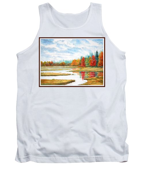 Tank Top featuring the painting Old Forge Autumn by Roger Rockefeller