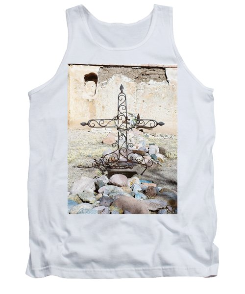 Tank Top featuring the photograph Old Gravestone Marker by Kerri Mortenson