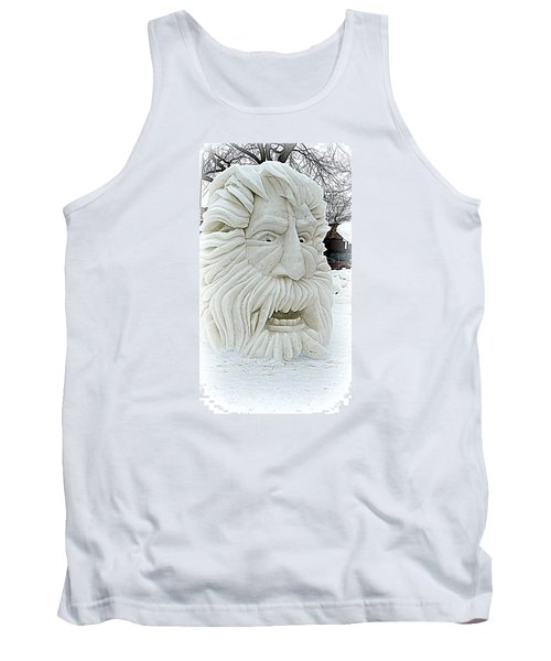 Old Man Winter Snow Sculpture Tank Top