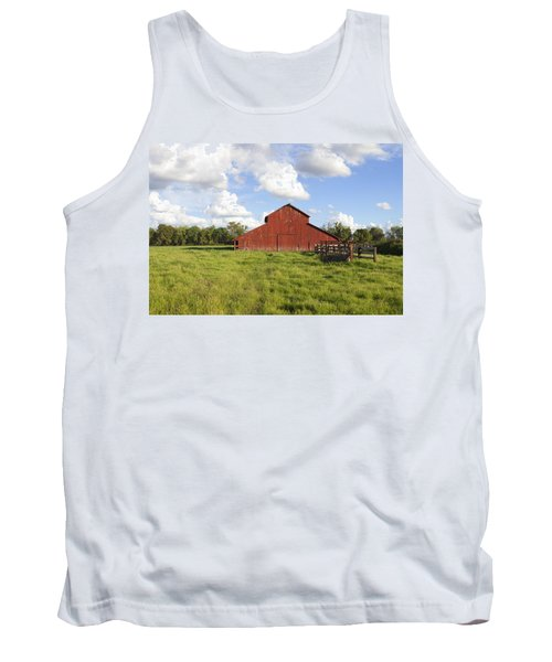 Tank Top featuring the photograph Old Red Barn by Mark Greenberg