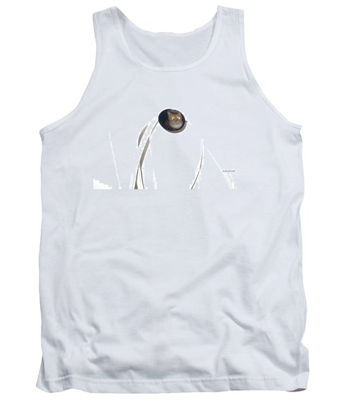 Olga Cat Reflected In Drawer Knob Tank Top by Kathy Barney