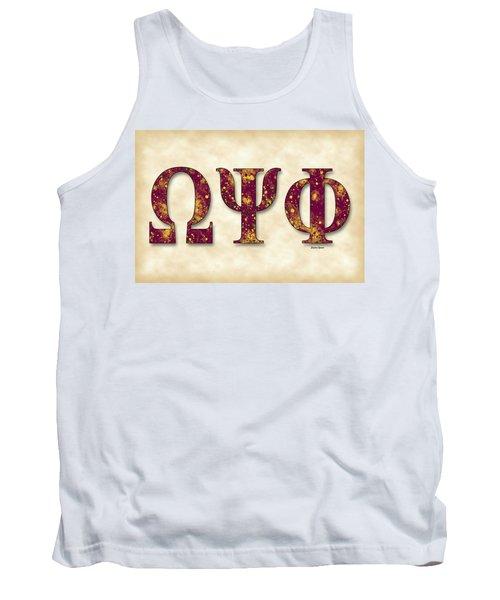 Omega Psi Phi - Parchment Tank Top