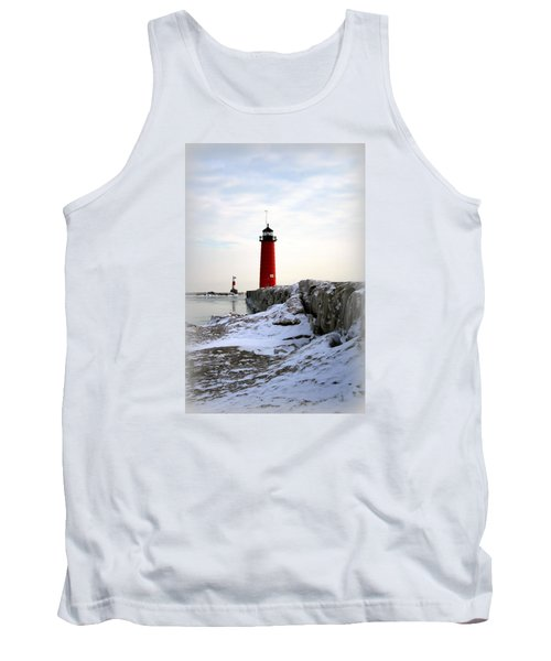 On A Cold Winter's Morning Tank Top by Kay Novy