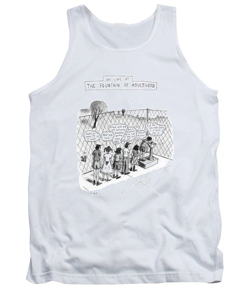 On Line At The Fountain Of Adulthood: Watch Tank Top