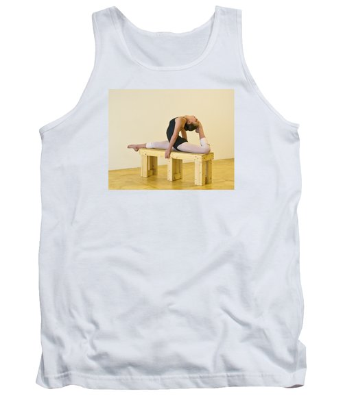 Practicing Ballet On The Bench Tank Top