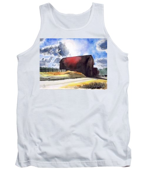 On The Macon Road. - Saline Michigan Tank Top by Yoshiko Mishina