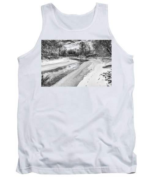 On The Riverbank Bw Tank Top