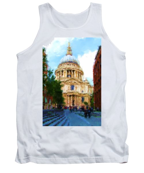 On The Steps Of Saint Pauls Tank Top by Jenny Armitage