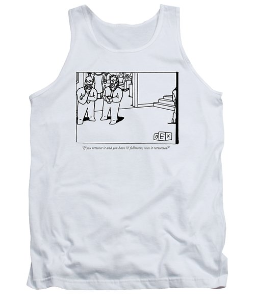 One Bearded Man Speaks To Another Bearded Man Tank Top