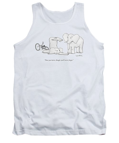One Elephant Says To Another Elephant Who Tank Top