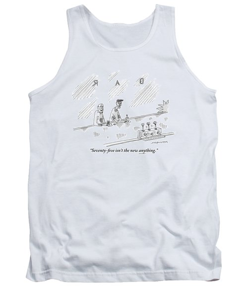 One Old Man Drinking At A Bar Speaks To Another Tank Top