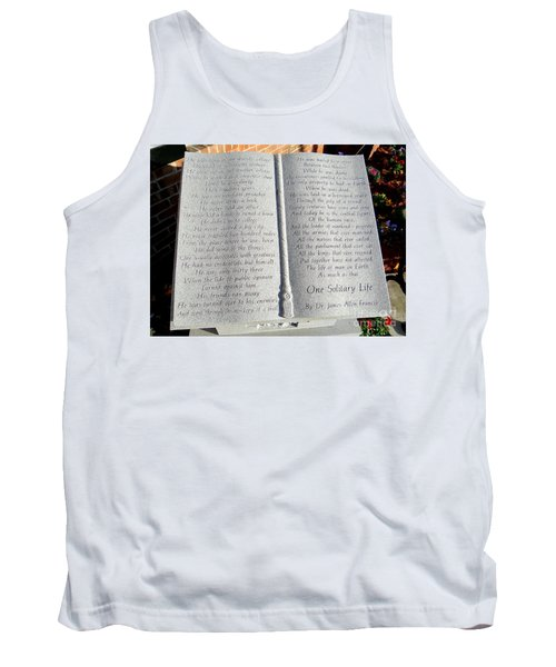 One Solitary Life Tank Top
