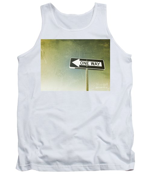 One Way Road Sign Tank Top