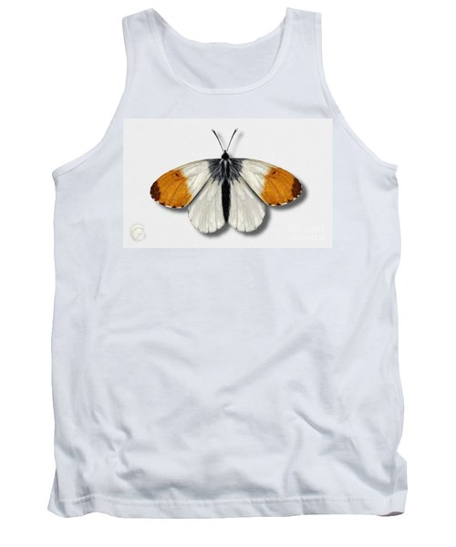 Orange Tip Butterfly - Anthocharis Cardamines Naturalistic Painting - Nettersheim Eifel Tank Top