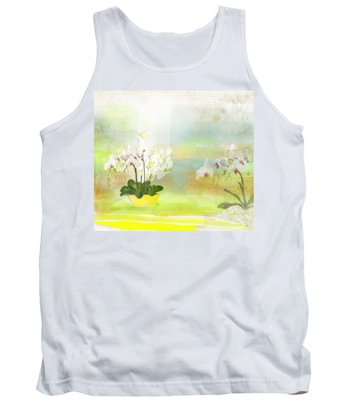 Orchids - Limited Edition 1 Of 10 Tank Top by Gabriela Delgado