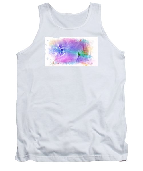 Petals In Violet Blue Tank Top