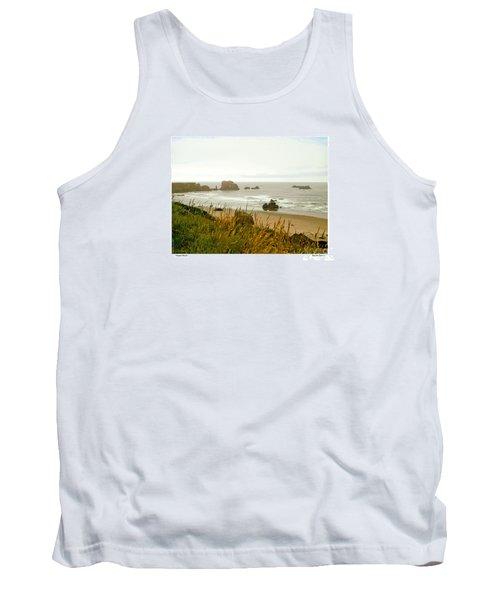 Tank Top featuring the digital art Oregon Beach by Kenneth De Tore