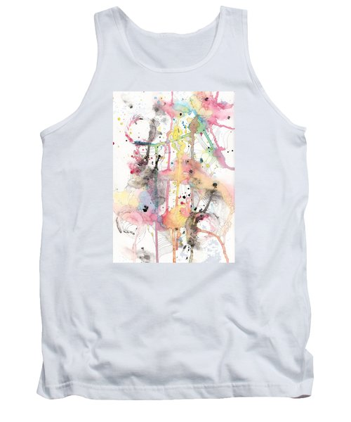 Tank Top featuring the painting Organic Clash by Rebecca Davis