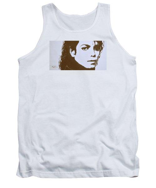 original black an white acrylic paint art- portrait of Michael Jackson#16-2-4-12 Tank Top by Hongtao     Huang