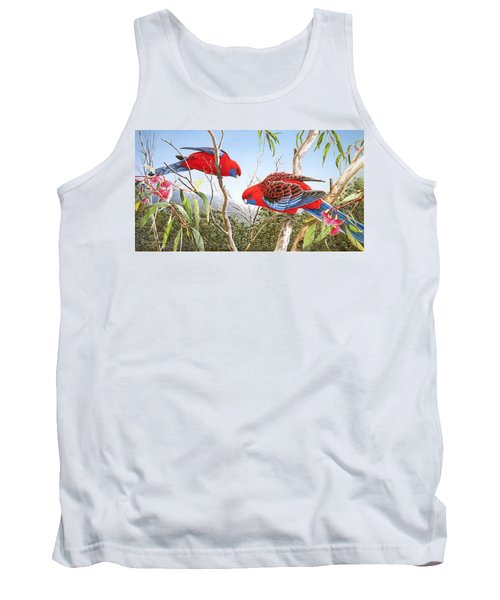 Our Beautiful Home - Crimson Rosellas Tank Top