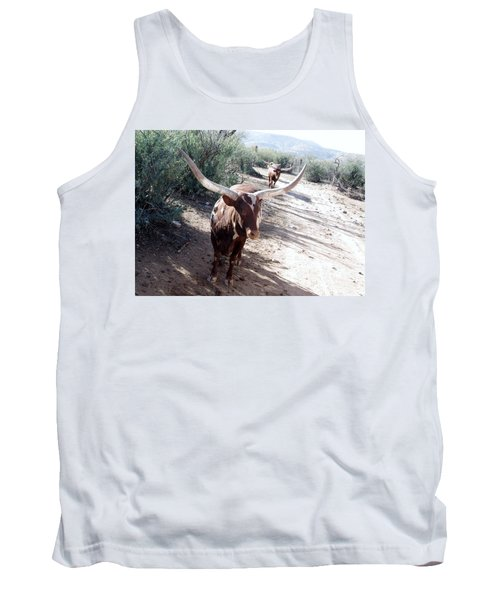 Out Of Africa  Long Horns Tank Top