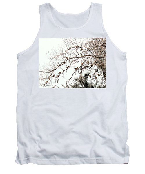Tank Top featuring the photograph Out On A Limb First Snow by Barbara Chichester