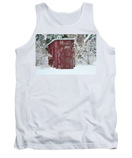 Outhouse Garden Shed In Winter, Marion Tank Top