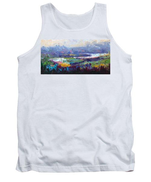 Overlook Abstract Landscape Tank Top