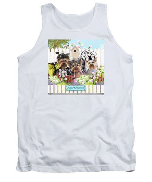 Owned By Yorkies II Tank Top by Catia Cho