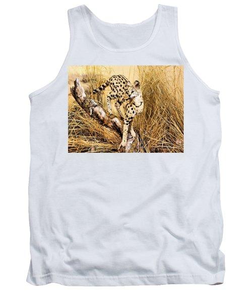 Painted Cheetah Tank Top by Kristin Elmquist