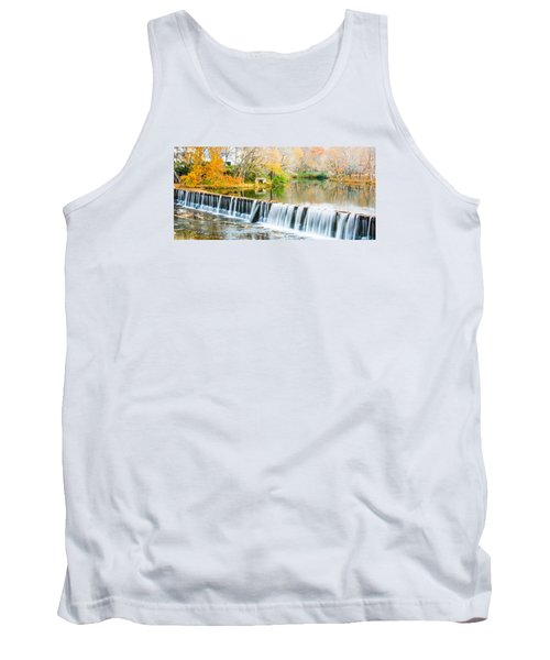 Panorama Of Buck Creek In Autumn Tank Top by Parker Cunningham