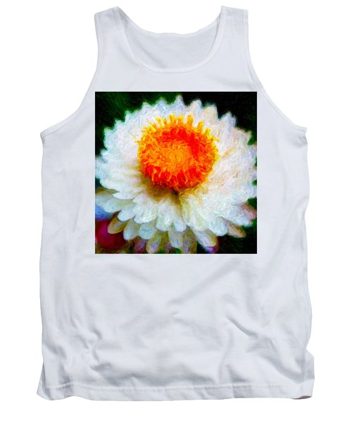Paper Daisy Tank Top by Chuck Mountain