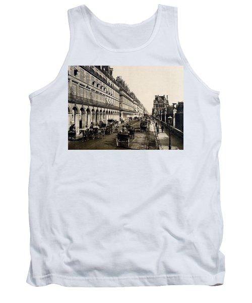 Paris 1900 Rue De Rivoli Tank Top by Ira Shander