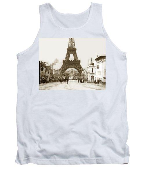 Paris Exposition Eiffel Tower Paris France 1900  Historical Photos Tank Top