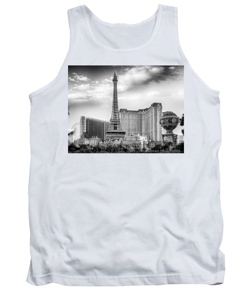 Tank Top featuring the photograph Paris Las Vegas by Howard Salmon