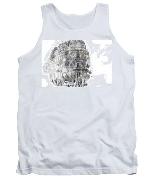Paris With Flags Tank Top