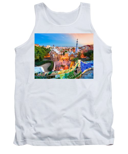 Park Guell In Barcelona - Spain Tank Top