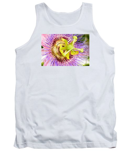 Passiflora The Passion Flower Tank Top by Olga Hamilton