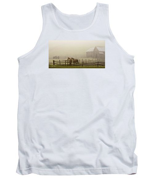 Tank Top featuring the photograph Patiently Waiting by Joan Davis